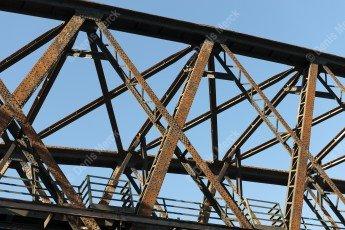 The railway bridge over the Rhine Beinheim steel lattice girders