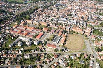 Vue aérienne du quartier Thurot de Haguenau