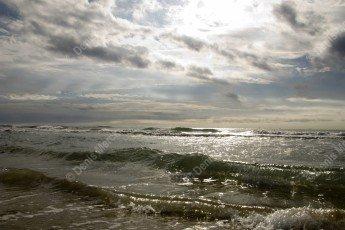 La mer méditerranée par mauvais temps