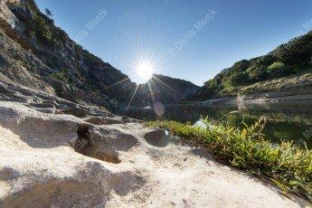 Gorges de l'Ardèche au lever du soleil