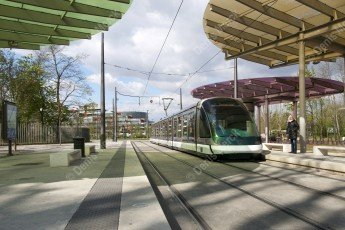 Strasbourg : la station de tram à la Robertsau