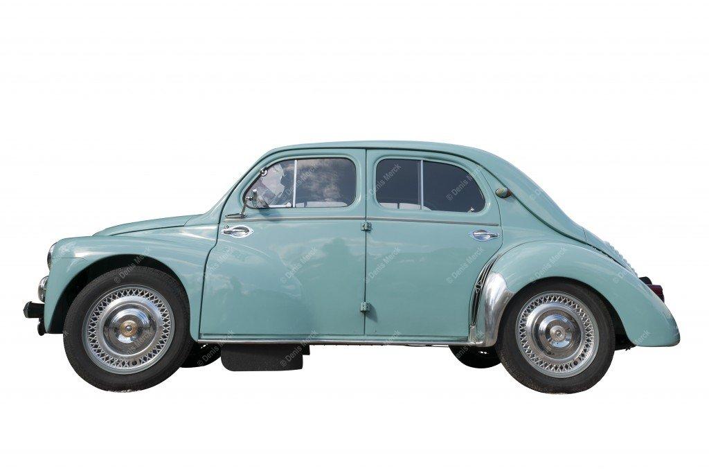 Un voiture Renault 4CV détourée