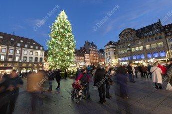 Le sapin de Noel de Strasbourg en 2015
