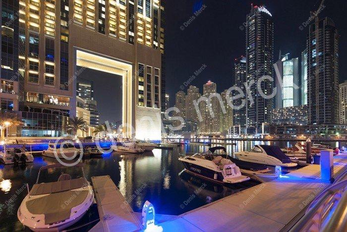 Dubai les bateaux de la Marina
