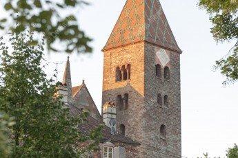 Le clocher de l'abbatial Saint Pierre et Paul de Wissembourg