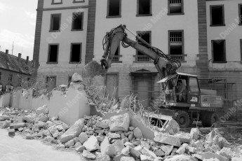 Haguenau démolition du mur d'enceinte de la prison