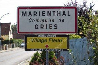 Panneau Marienthal commune de Gries