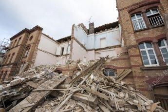 Démolition d'un bâtiment dans le quartier Thurot à Haguenau