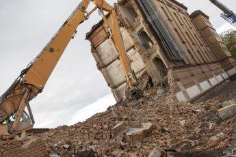 Haguenau démolition d'un batiment du quartier Thurot