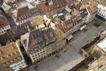 Strasbourg vue du parvis depuis la plate forme de la cathédrale