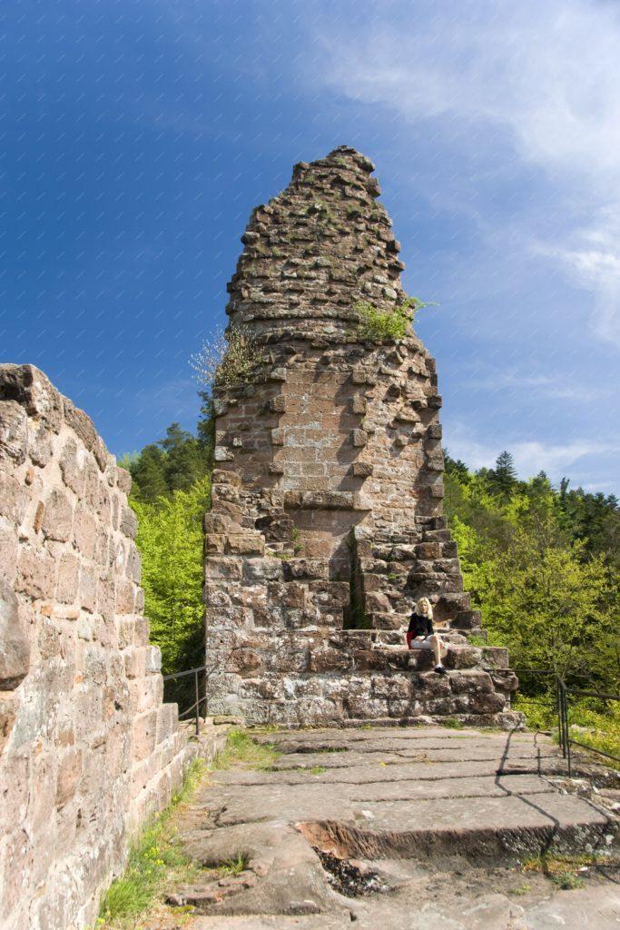 Châteaux du Wasigenstein dans les Vosges du Nord