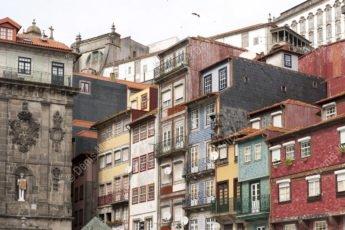 Façades de maison à Porto Portugal