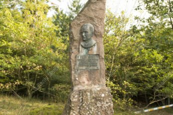 La stèle dédiée à Félix Spitz