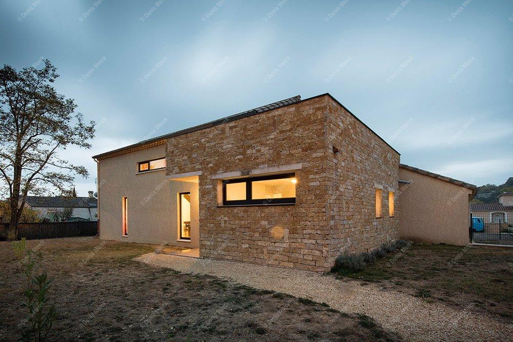 Maison contemporaine en Ardèche