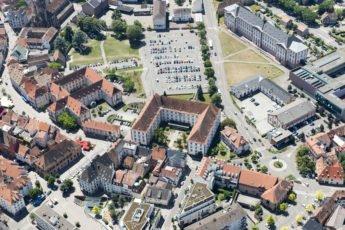 Vue aérienne du centre ville de Haguenau