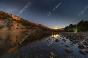 Aiguèze de nuit