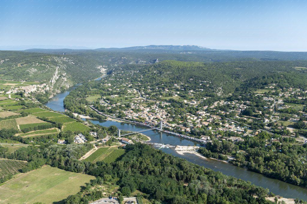 Saint Martin d'Ardèche vu du ciel