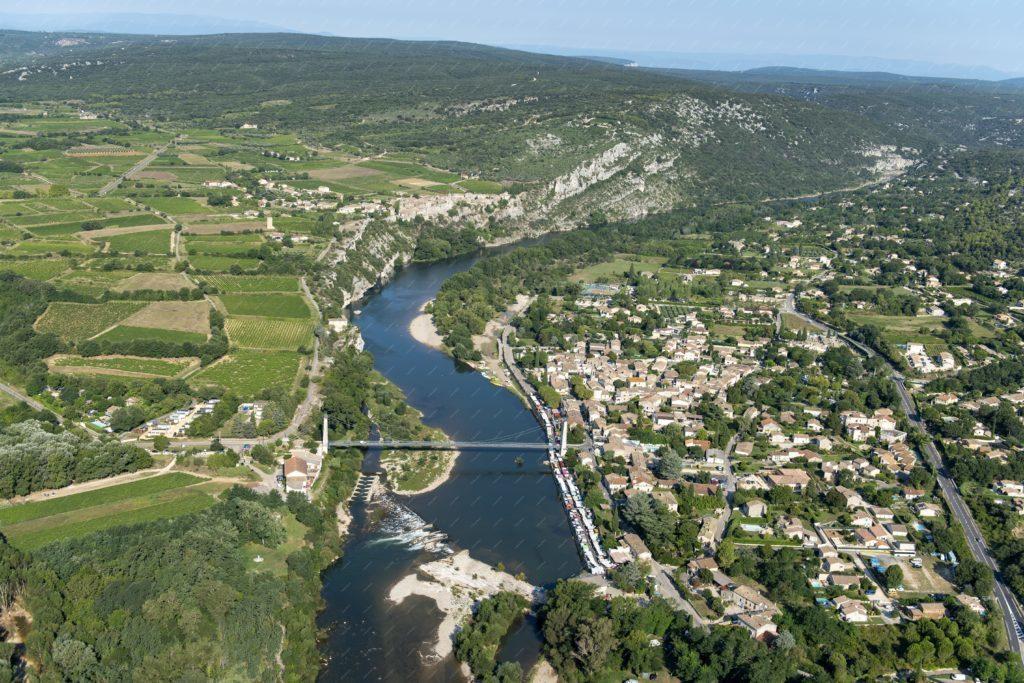 Vue aérienne de Saint Martin d'Ardèche