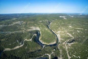 Les Gorges de l'Ardèche vues du ciel