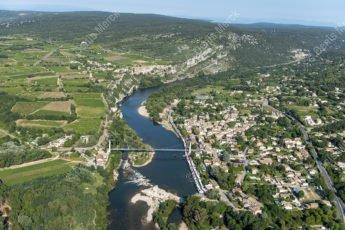 Vue aérienne des Gorges de l'Ardeche