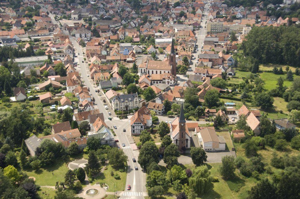 Photo aérienne de Schweighouse sur Moder