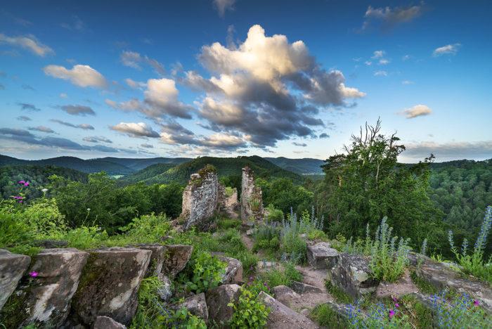 Château du Schoeneck dans le parc naturel des Vosges du Nord