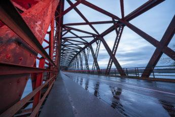 Le pont de Beinheim sur le Rhin
